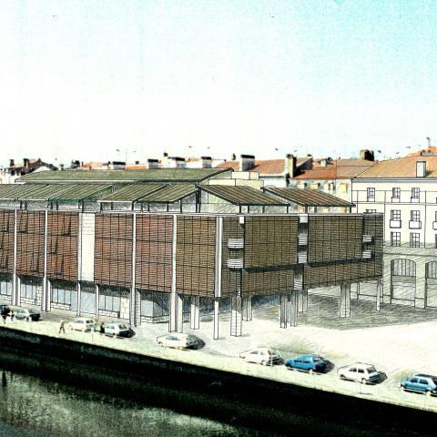 Un des projets de halle présenté lors des études à la Ville de Bayonne
